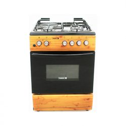 Scanfrost Cooker 3Gas 1Electric (Wood Finish)