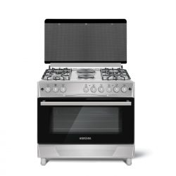 Bruhm Cooker 4Gas 2Electric (Silver)